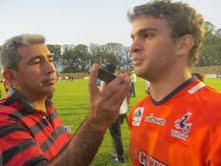 Ramiro Moyano debuto en la Naranja mayores y lo hizo con dos tries