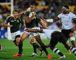 Los sudafricanos apoyaron seis tries en su triunfo ante Fiji. (IRB)