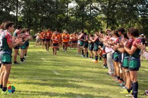 La calle de Mar del Plata para el seleccionado tucumano que obtuvo el cuarto puesto. (Foto: Unión de Rugby de Mar del Plata)