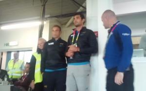 Mariano Galarza mientras esperaba la apelación, acompañaba al equipo en Gloucester