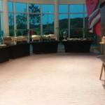 El bufet de Hilton Hotel preparado pa la cena devlos Pumas