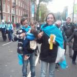 En argentina dia de la madre, por lo que toda la familia vino a alentar a los Pumas.