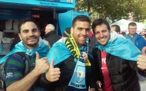 De Buenos Aires fueron la mayoria de los seguidores argentinos.