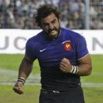 Yoann Huget es la baja en Francia, luego del choque con Italia y se pierde la Copa en el primer partido.