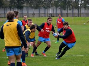 De regreso.  Comenzaron los entrenamientos de Los Pumas con vistas a la Rugby Championship (Foto UAR)