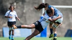 Fiji fue un duro rival para Argentina en el inicio del Seven de Hong Kong (Foto: Power Sport Images for HKRFU)