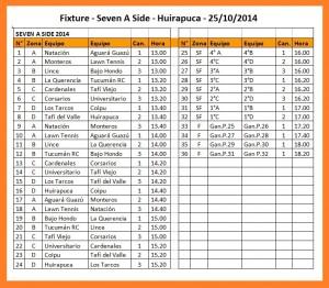 Fixture Seven Huirapuca 2014