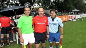 Junto a Marcelo Abdala, antes del partido final del Veco.