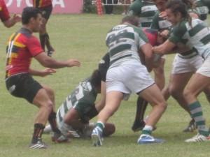 Cardenales tuvo que batallar para quedarse con la victoria. (Foto: Rugby Tucumano)