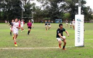 Una y otra vez. Diez fueron los tries de Tucumán Rugby ante Lince.