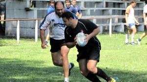 Juan Pablo junto a Ariel Castellina, otro tucumano en el plantel.
