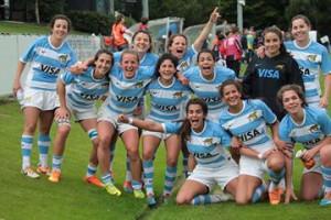 Alegría. El festejo merecido de las chicas que lograron el pase a cuartos de final.