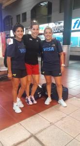 Mayra, Isabel y Rita, antes partir a Buenos Aires.