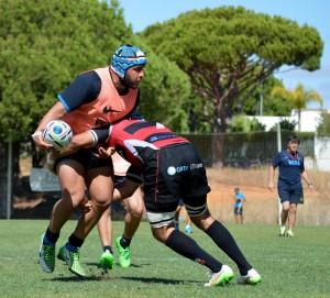Lucas Noguera Paz, en una parte del entrenamiento (Foto: UAR)