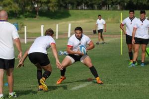 Lucas Noguera con pelota