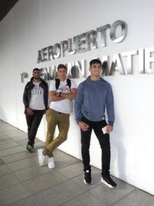 Rubén Ricco, Domingo Miotti y José Barros Sosa, antes de partir. (Foto: J. Nuno - La Gaceta)