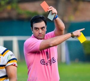 El árbitro Matías Pascual, uno de los involucrados en los acontecimientos que devinieron en suspensión. (Foto: Marcelo Valdez)