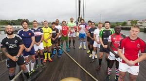 La presentación del Seven de Glasgow con los capitanes. (FOTO: IRB)