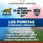 Los Pumitas jugarán ante Natación y Gimnasia