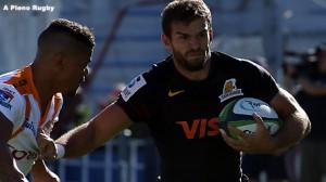 TRIPLETE. Ramiro Moyano consiguió apoyar tres veces. (Foto: A Pleno Rugby)