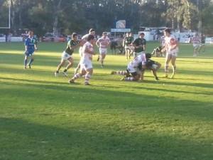 tucumán Rugby buscó siempre el in goal santiagueño (Foto Rugby Tucumano)