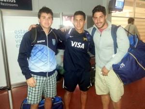 Ledesma, Frías Silva y Cortés, apenas arribados a Tucumán.